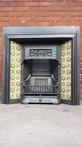 Cast Iron Fireplace Insert by Details About Original Stencilled Slate Fire Surround With Insert