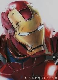 iron man colour drawing behance