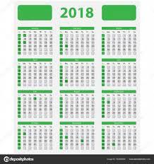 Kalendář 2018 Svátky Kalendář Usa 2018 Státní Svátky Stock Vektor Epapijon 163652850
