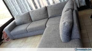 canape d angle tissu gris canapé d angle tissus gris reservé demain 16h a vendre 2ememain be
