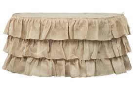 burlap table linens wholesale three tier ruffled burlap table skirt 17 ft natural cv linens