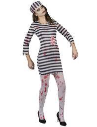 Womens Prisoner Halloween Costume Zombie Prisoner Costume Women Vegaoo