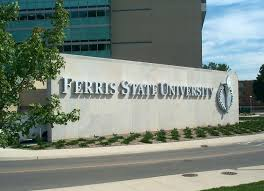 Ferris State University Campus Map by Ferris State University Flite Library Wayfinding