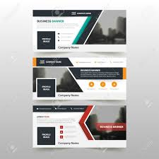 layout banner template orange green red corporate business banner template horizontal