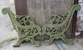 iron park benches antiques atlas victorian cast iron park bench ends to restore