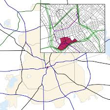Dallas Neighborhood Map by Convention Center District Dallas Wikipedia