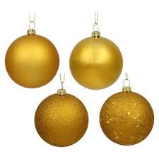 Christmas Ornament Storage Au by Gold Christmas Ornaments U0026 Tree Decorations Target