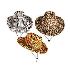 leopard print party supplies hats party supplies animal print cowboy hats