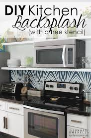kitchen stencil ideas kitchen remodelaholic diy kitchen backsplash stencil do it