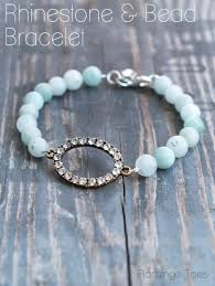 simple beaded bracelet images Rhinestone and bead bracelet tutorial jpg