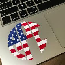 Usa Flag Cape American Flag Monogram Decal Monogram Sticker Yeti Decal Yeti