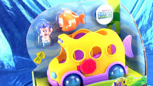 nickelodeon u0027s bubble guppies swim sational bus toy review