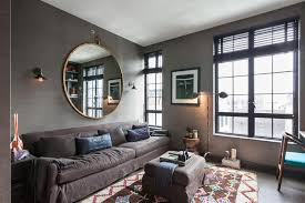 Apartments Artistic Living Room Design Coal Color Theme Luxury - Beautiful apartments design