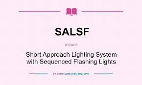 Approach Lighting System Salsf Short Approach Lighting System With Sequenced Flashing