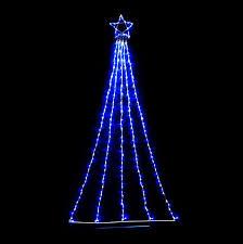 2 4m led waterfall star white u0026 blue christmas world