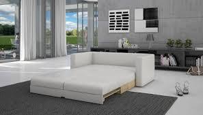sofa weiãÿ gã nstig schlaf sofa mit kunstleder in weiß 140x200 cm tonsbra 140 sofa