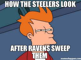 Ravens Steelers Memes - how the steelers look after ravens sweep them meme futurama fry