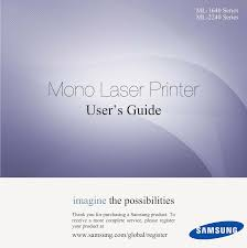 ml2240 laser printer users manual clp 310 guide en book samsung