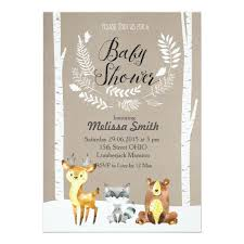 woodland baby shower invitations winter woodland baby shower invitation zazzle