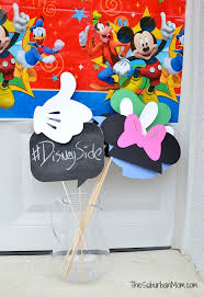 mickey mouse photo booth props showing our disneyside mickey mouse party ideas free