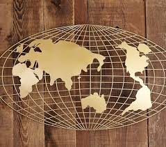 3D Map Wall Decor