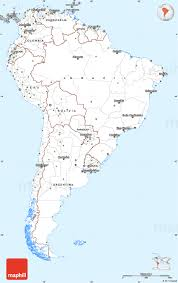 Map Of Sounth America by Gray Simple Map Of South America