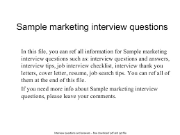 sample job interview thank you letter sample marketing interview questions 1 638 jpg cb u003d1402696290