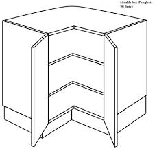 placard bas cuisine meuble d angle à 2 étagères à 90 degrée