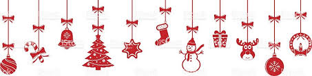 hanging ornaments background stock vector more