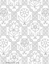 freehand blackwork embroidery pattern transcribed by sidney