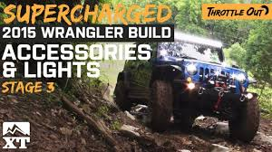 jeep accessories lights supercharged 2015 jeep hits trails with lights youtube