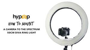diva ring light amazon how to mount a camera onto a diva ring light youtube