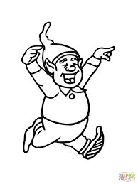 happy christmas elf coloring page free printable coloring pages