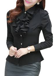 formal blouse yasong sleeve formal top work blouse frill