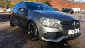 grey mercedes a class mercedes a class a200d amg line executive with panoramic roof