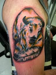 bison tattoo oh failing eyes