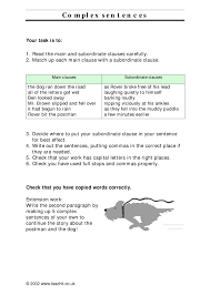 Coordinating And Subordinating Conjunctions Worksheets Ks3 Sentence Construction Teachit English