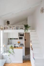 cuisine de studio une kitchenette de studio blanche cuisine deco