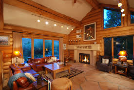 cabin style houses lodge style winter cabin great room houses rooms cabins