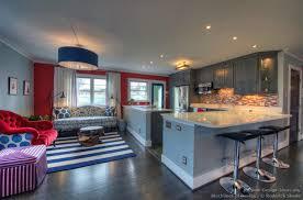 White And Blue Kitchen - blacklines of design architecture magazine kitchen photos