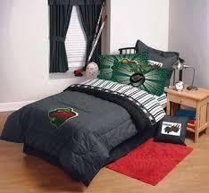 Hockey Bedding Set Minnesota Nhl Hockey Bedding And Accessories