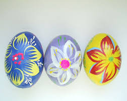 painted wooden easter eggs wooden easter eggs etsy