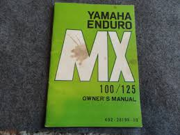 1973 1974 yamaha mx100 mx125 enduro owners manual mx 100 125