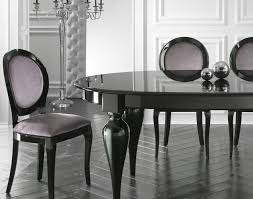 dining italian designer oval extendable black lacquered dining