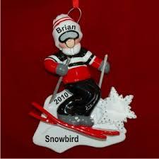 snow ski ornament