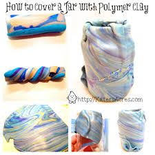 Polymer Clay Vases How To Cover A Jar With Polymer Clay Tutorial By Katersacres