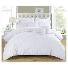 home design bedding valentina pinch pleated ruffled 10 piece comforter set chic home