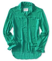 aeropostale blouses buy aeropostale womens sheer sleeve woven button up shirt in