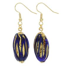 royal blue earrings murano earrings royal blue capsule earrings