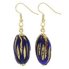 royal blue earrings murano earrings royal blue capsule earrings